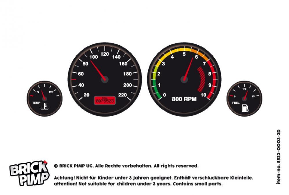 3D Speedometer fixtures