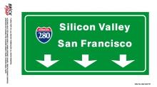 Amerikanische Highway Schilder