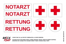 Red Cross Rescue Signs