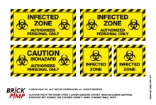 Infected Biohazard Zone Signs