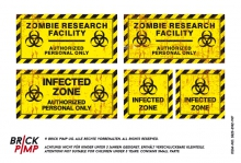 Infected Zombie Zone Signs