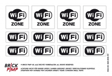 WIFI Zone Signs