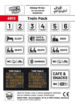 Personenzug Beschilderung & Anzeige